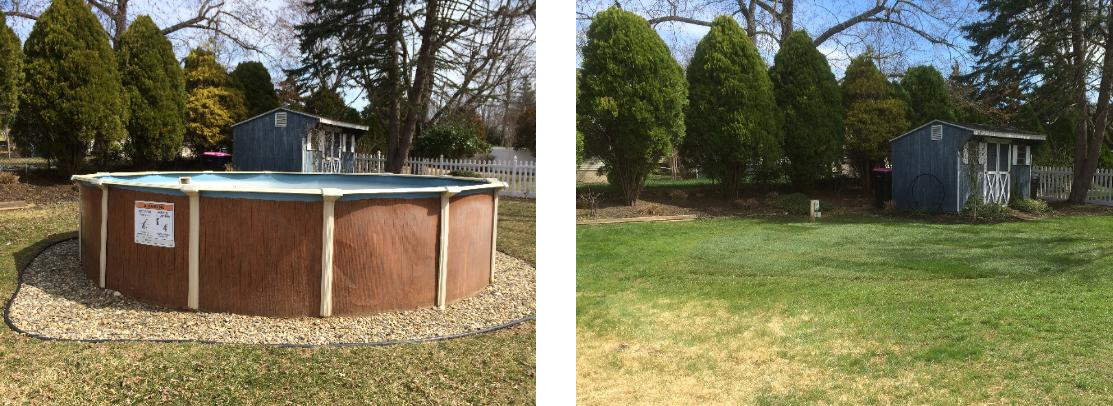 pool removal before after